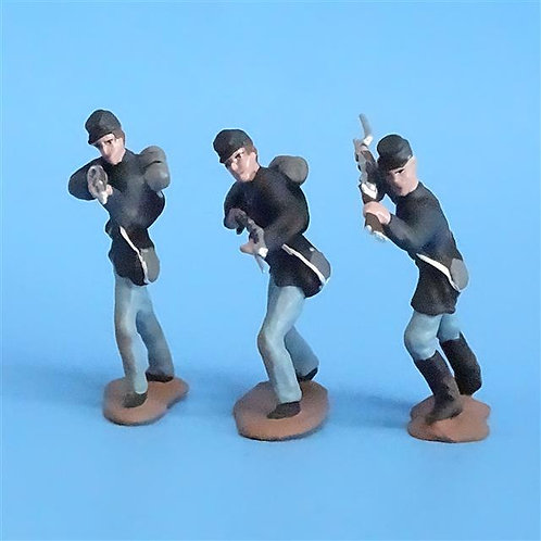 CORD-258 Union Infantry (3 Figures) - Unknown Manufacturer - 54mm Metal - No Box