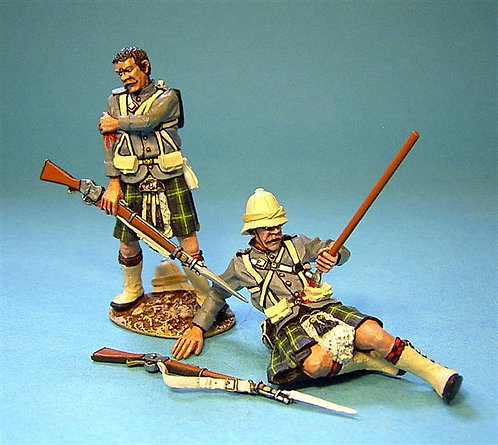 GDH-03 - Gordon Highlanders 2 Figures with Flesh Wounds