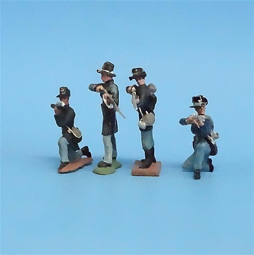 CORD-180 - Iron Brigade Firing (4 Figures) - Manufacturer Unknown- 54mm Metal