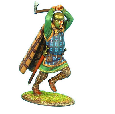 ROM083 - Gallic Warrior Charging with Axe and Cloak