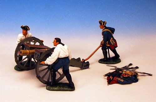 BGG.2 - 3 Crew Moving 6 lb Cannon, British Artillery