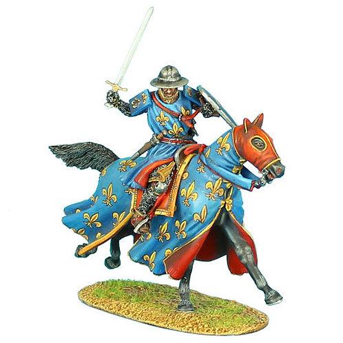 CRU052 - Mounted Crusader French Knight Charging