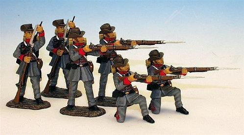 MRR.1 - 2 Firing, 2 Loading, 2 Kneeling Loading, Mississippi Rifles