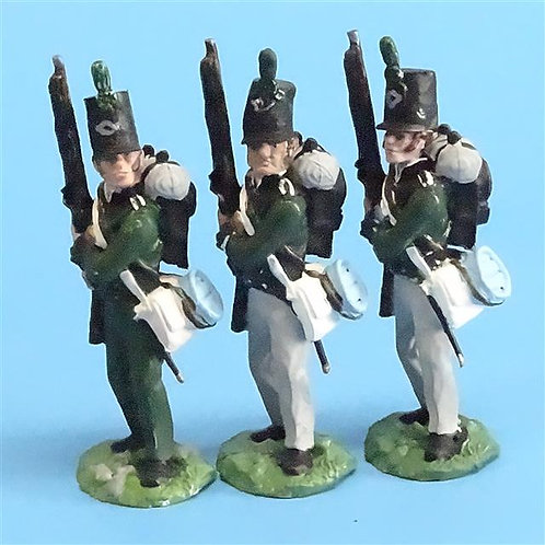 CORD-N0125 - 95th Rifles - Port Arms (3 Pieces) - All the King's Men 54mm Metal