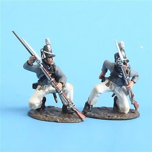 CORD-A0114 Scotts Brigade Kneeling Loading (2 pcs) - War of 1812 - John Jenkins