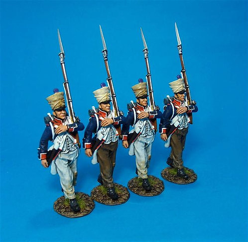 PFL-07N - Fusilier Marching Box Set #3 French Line Infantry, 1807  66th Line,