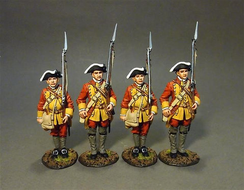 RRBC-02N Connecticut Provincial Regiment of Foot, Line Infantry at Attention Set