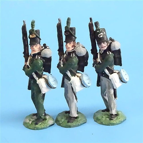 CORD-N0123 - 95th Rifles - Port Arms (3 Pieces) - All the King's Men 54mm Metal