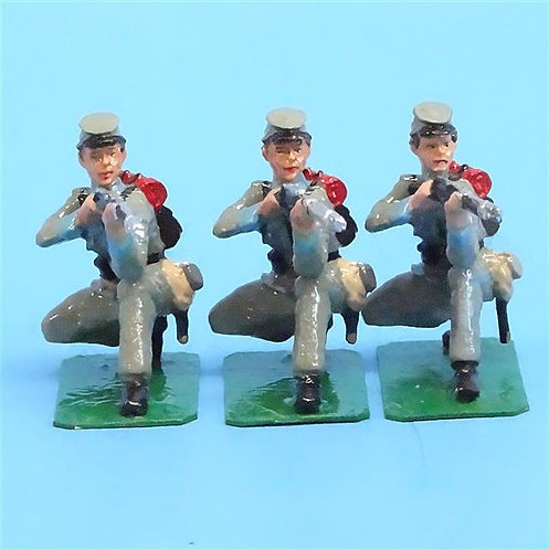 CORD-0786 Confederates Kneeling Firing (3 Figures) - ACW - Unknown Manufacturer