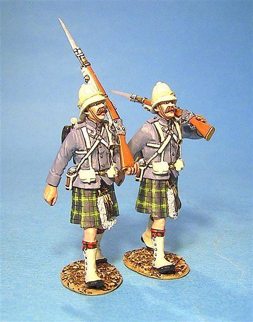 GDH-09 - Gordon Highlanders 2 Figures Marching