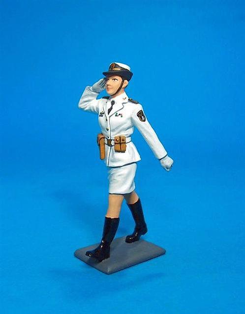 PLA-02 - PLA Navy, Female Cadet Officer Saluting