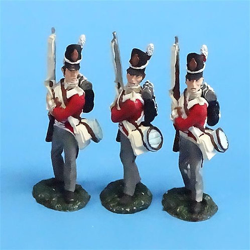CORD-N0150 - British Infantry - Port Arms (3 Pieces) - All the King's Men  54mm