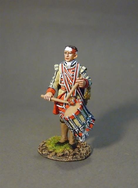 QBLG-02C - Louisbourg Grenadiers  40th Regiment of Foot Drummer