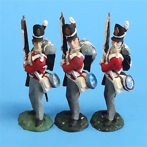 CORD-N0163 - British Infantry - Port Arms (3 Pieces) - All the King's Men  54mm