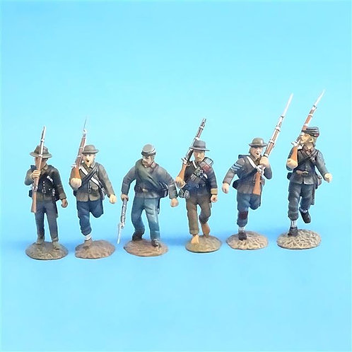 CORD-0567 - Confederates Marching (6 Figures) - ACW - Frontline - 54mm Metal