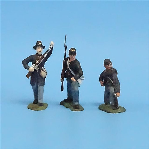 CORD-207 - Iron Brigade (3 Figures) - Manufacturer Unknown - 54mm Metal - No Box