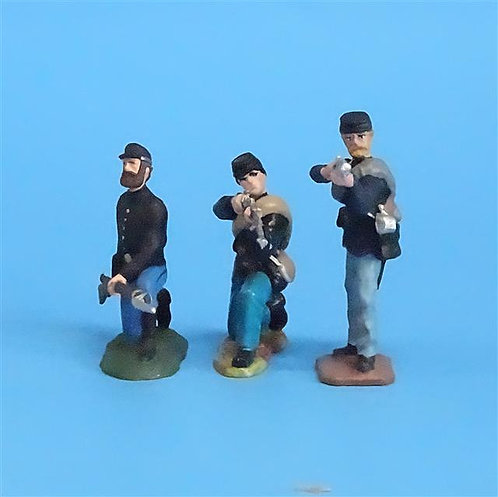CORD-034 - Union Firing Line (3 Figures) - Manufacturer Unknown - 54mm Metal