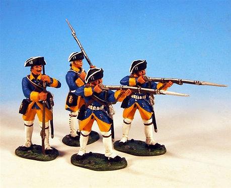 SAS.1 - 2 Standing Firing, 2 Loading, Halsinge Regiment, Fusilier Company