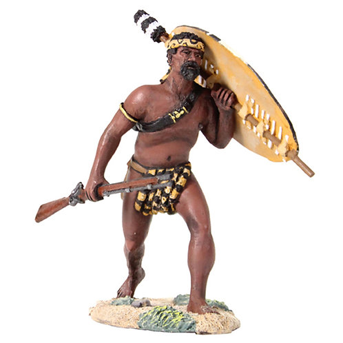 20153 - Zulu Warrior Advancing with Rifle At Trail