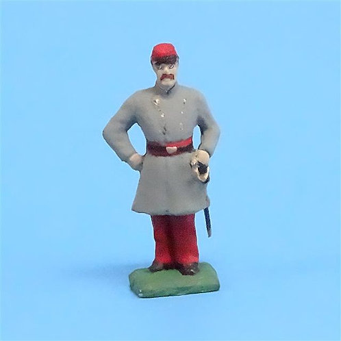 CORD-3053 - Confederate Artilleryman - Unknown Manufacturer - ACW - 54mm - Metal