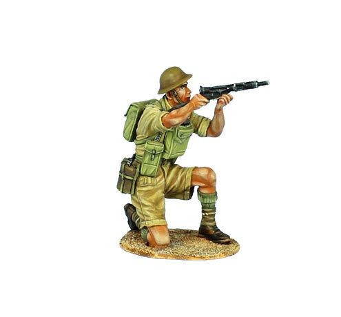 DAK034 - British 8th Army Kneeling Firing Sten