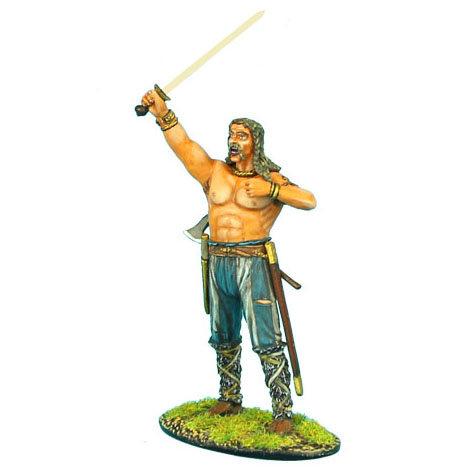 ROM032 - German Warrior with Raised Sword