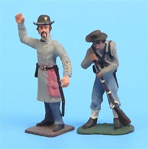 CORD-0813 - Confederate Soldiers (2 Figures) - ACW - Unknown Manufacturer - 54mm
