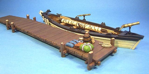 WHRR-02 - Whaleboat with Jetty, (15pc)