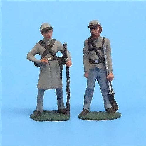 CORD-0812 - Confederates at Ease (2 Figures) - ACW - Unknown Manufacturer - 54mm