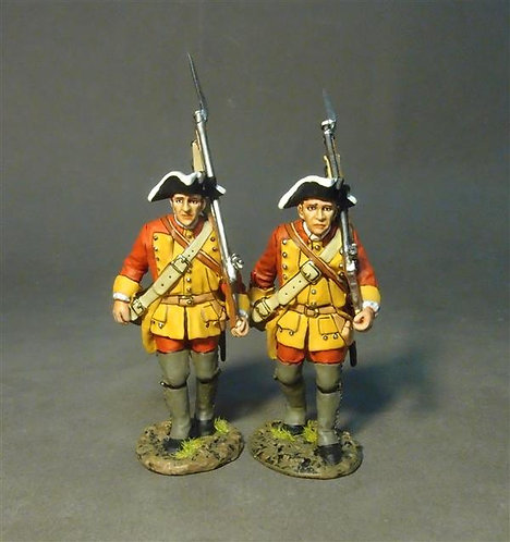 RRBC-05 - Connecticut Provincial Regt. of Foot, 2 Line Infantry Marching (2 pcs)