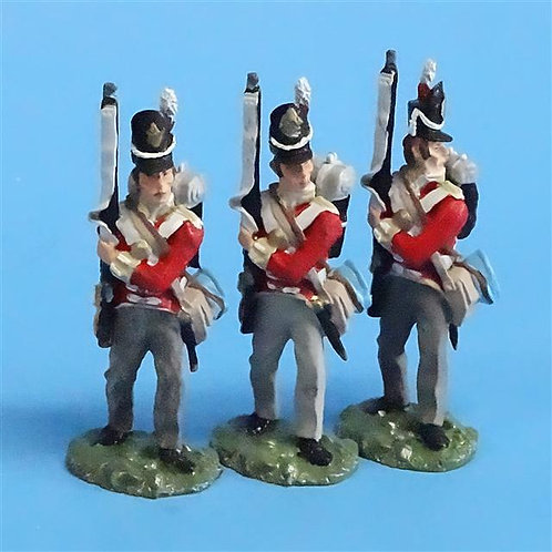 CORD-N0130 - British Infantry - Port Arms (3 Pieces) - All the King's Men - 54mm