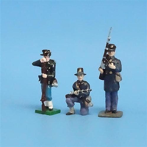 CORD-192 - Iron Brigade (3 Figures) - Manufacturer Unknown - 54mm Metal - No Box