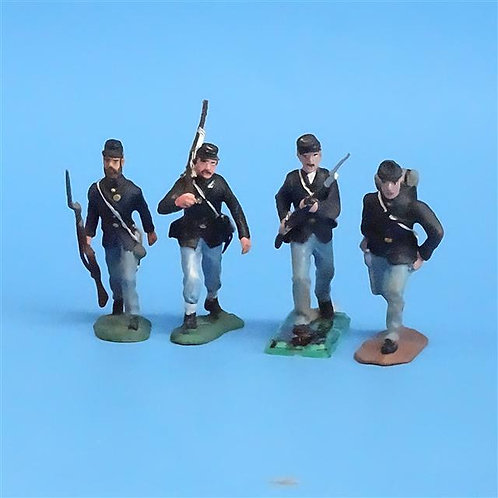 CORD-036 - Union Advancing (4 Figs) - Manufacturer Unknown - 54mm Metal - No Box