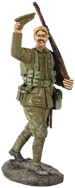 23067 - 1914 British Infantry Marching Waving Cap