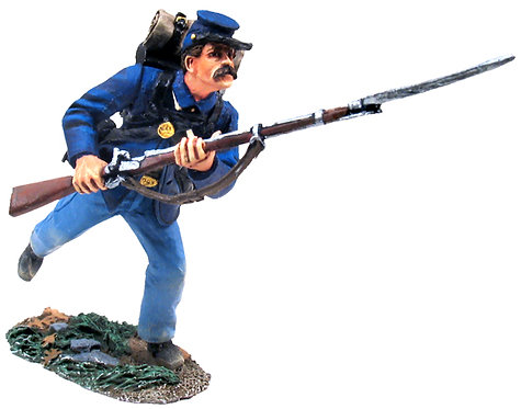 31127 - Union Infantry in Sack Coat Charging No.6