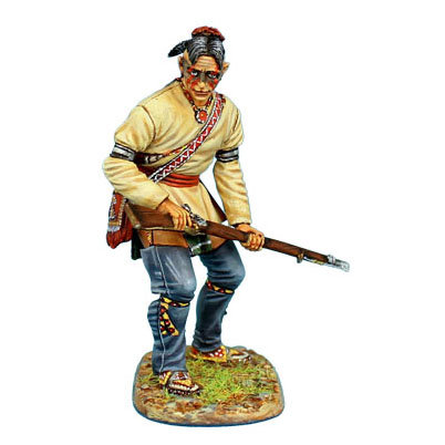 AWI082 - Woodland Indian Standing Ready with Musket