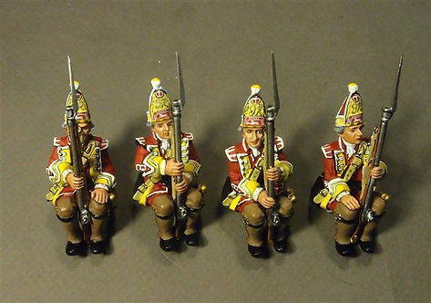 QBOAT-03D - 15th Regt of Foot Grenadiers (4 pcs)  Quebec Landing Barge Crew