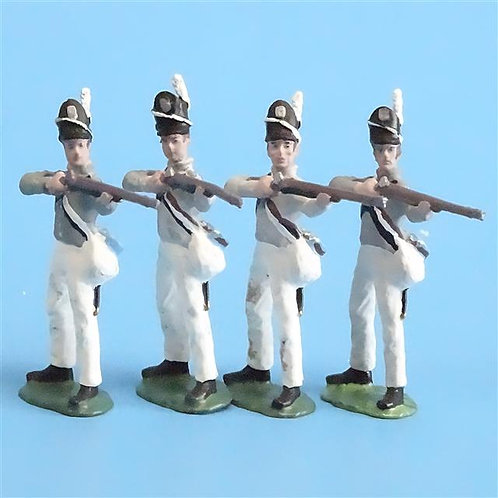 CORD-A0131 - Scotts Brigade Firing (4 Pieces) - All the King's Men - 54mm Metal