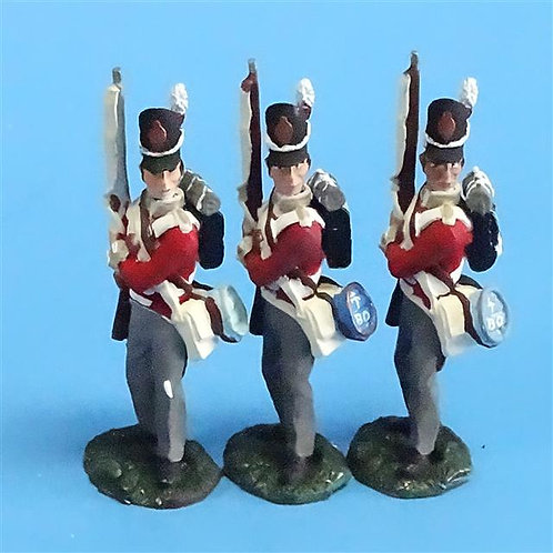 CORD-N0146 - British Infantry - Port Arms (3 Pieces) - All the King's Men - 54mm