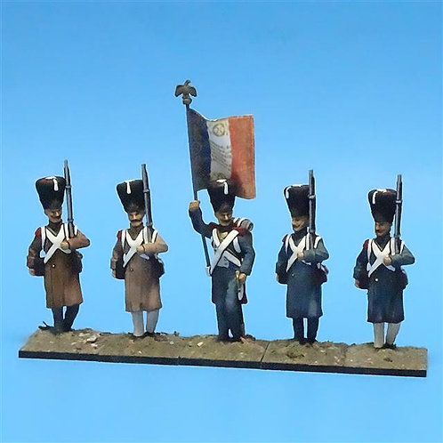 MI-445 - French Grenadiers - (5 figs) - All the King's Men - 54mm Metal - No B