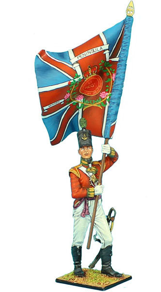 NAP472 - British 51st Light Infantry Regiment Ensign Std Bearer - King's Colors