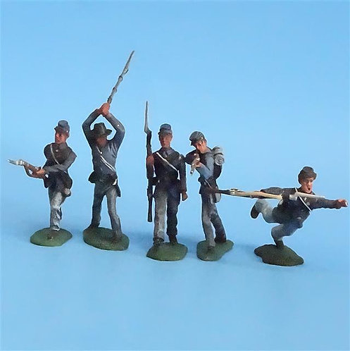 CORD-260 Union Infantry (5 Figures) - Unknown Manufacturer - 54mm Metal - No Box
