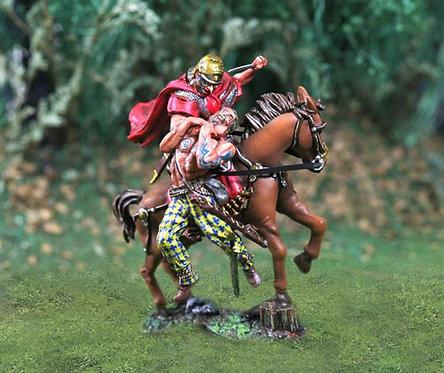 CS00737 - Roman Mounted Diorama with Barbarian