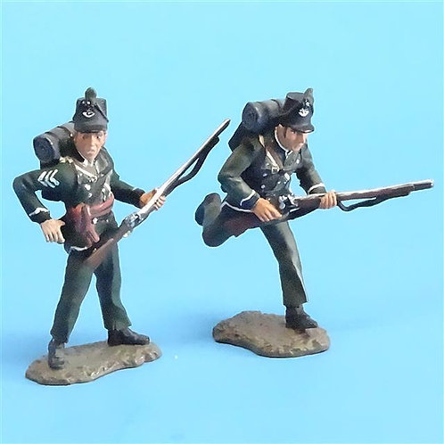 CORD-N0100 - 95th Rifles - Sergeant and Trooper (2 Pieces) - Britains - 54mm