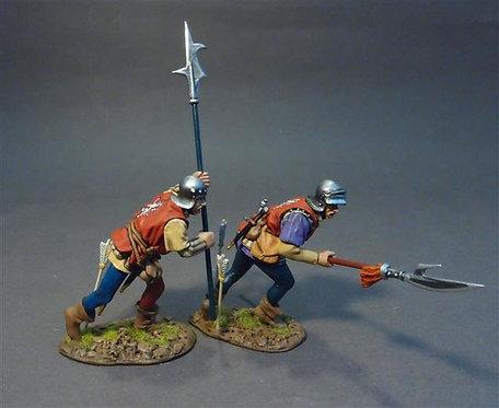 NFYORK-09 - Yorkist Billmen (2 figs) Retinue of John Howard, 1st Duke of Norfolk