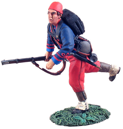 31104 - Union Infantry 114th Pennsylvania Zouaves Advancing at Trail No.1