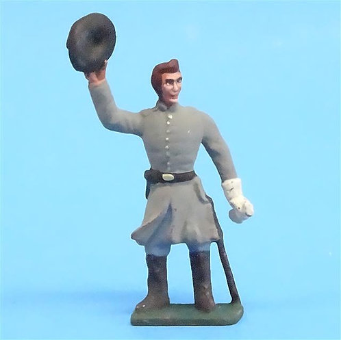 CORD-0829 Confederate Officer - ACW - Unknown Manufacturer - 54mm Metal - No Box