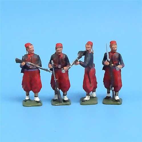 CORD-313 - Union Zouaves (4 Figs) - Unknown Manufacturer - 54mm Metal - No Box
