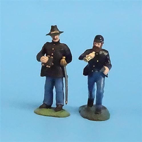 CORD-033 - Union Command Set (2 Figures)  - ACW - LeMans - 54mm Metal - No Box