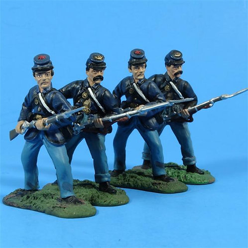 MI-128 - From 17015, Union Firing Line Set - Incomplete - No Box - Britains